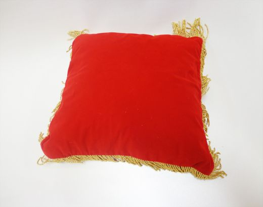 Coussin d'inauguration rouge