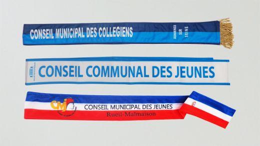 Echarpes Conseil Municipal Jeunes personnalisées
