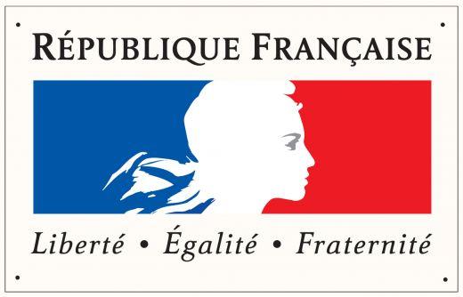 Plaque devise de la République