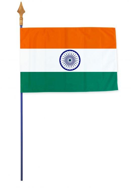 Drapeaux et oriflammes Inde 40*60 cm