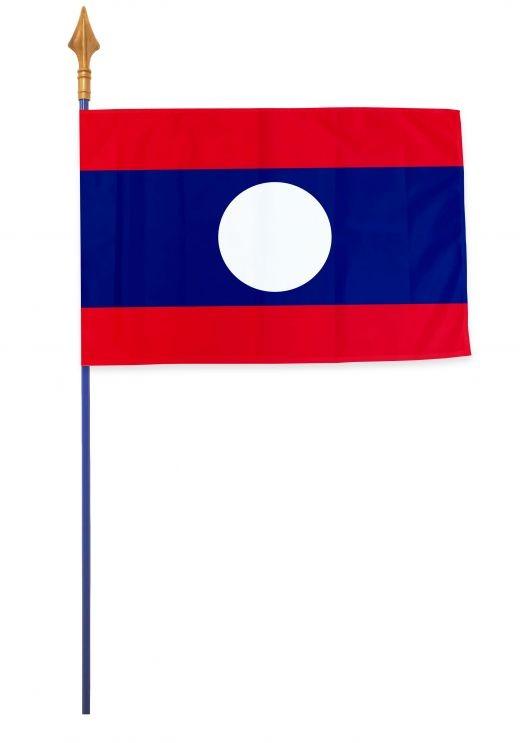 Drapeaux et oriflammes Laos 40*60 cm