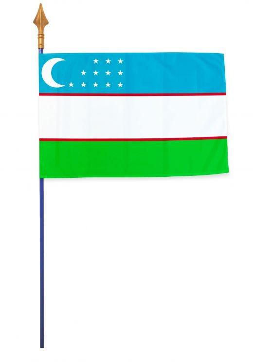 Drapeaux et oriflammes Ouzbékistan 40*60 cm