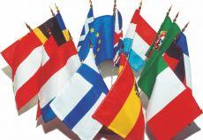 Lot drapeaux de table de l'Union Européenne