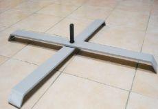 Pied de voile en croix